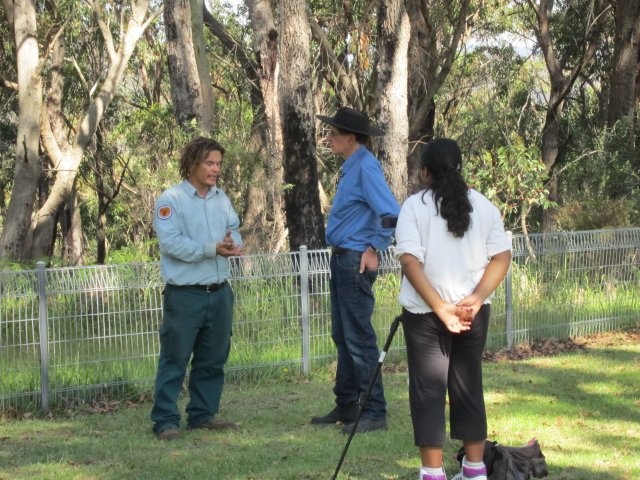 Rob Evitt, Peter Read and Sheena Kitchener at Appin Massacre Memorial