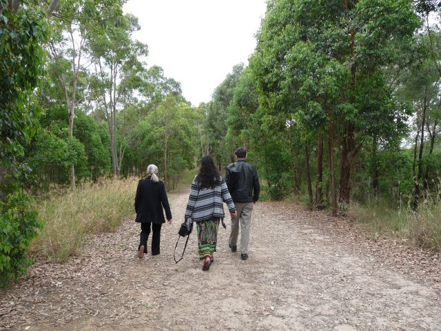Auntie Fran Bodkin with Peter Read & Sheena Kitchener at William Howe Park, Mt Annan