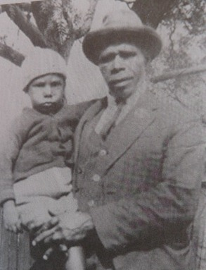 Tom Williams senior with his son Tom at Salt Pan Creek - 1923