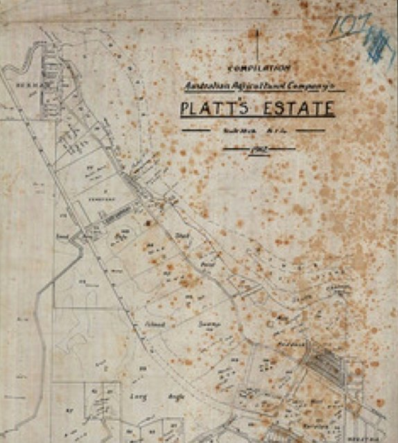 Australian Agricultural Company's Platt's Estate, Newcastle 1912. Univ of Newcastle Cultural Collections