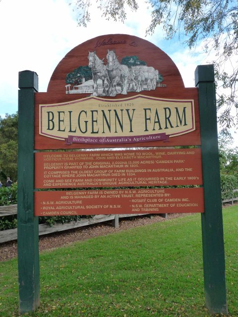 Belgenny Farm Welcome sign, Camden