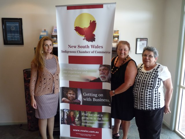 Debbie Barwick, Liz McEntyre and Joy Reid, Mandurah Hunter Indigenous Business Chamber, Rutherford 2014