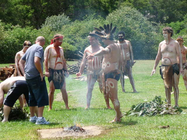 Smoking Ceremony at Gulguer, Bents Basin, 2011