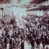 Railway employees at Eveleigh Street Railway workshop