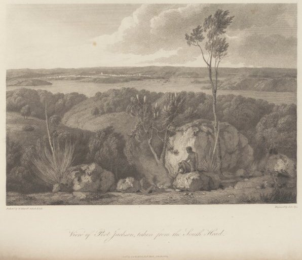 View of Port Jackson from the South Head by John Pye 1782-84, courtesy of the National Library of Australia