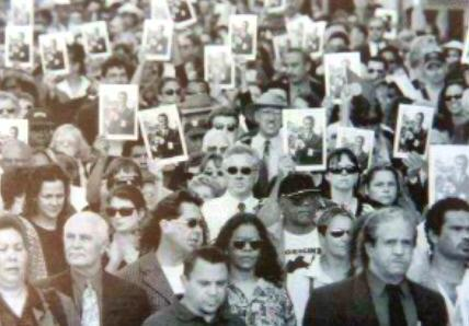 Mourners at Charles Perkins funeral