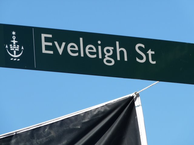 Eveleigh Street sign, Redfern