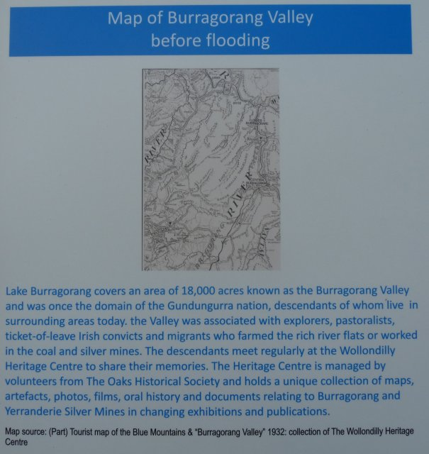 Map of Burragorang Valley prior to flooding