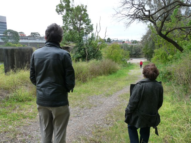 Riverside walk (Georges River at Liverpool Weir) Janny Ely & Peter Read