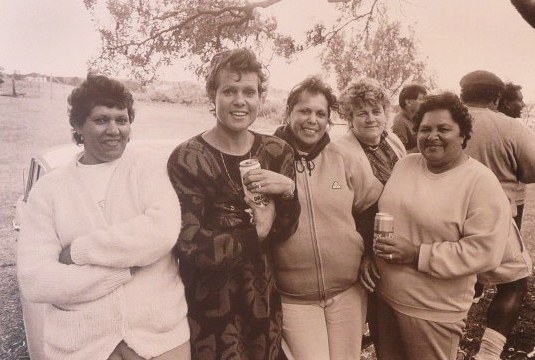 Irene Cooley, Evonne Cawley (Goolagong) Marilyn Russell, Anne Timbery and Margie Dixon - 1988
