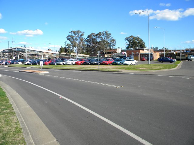 Rooty Hill station, looking towards the farm where Gordon Morton grew up