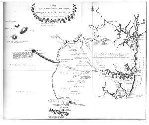 Map of Port Jackson from Watkin Tench